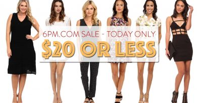 6pm.com $20 or Less Sale Today Only