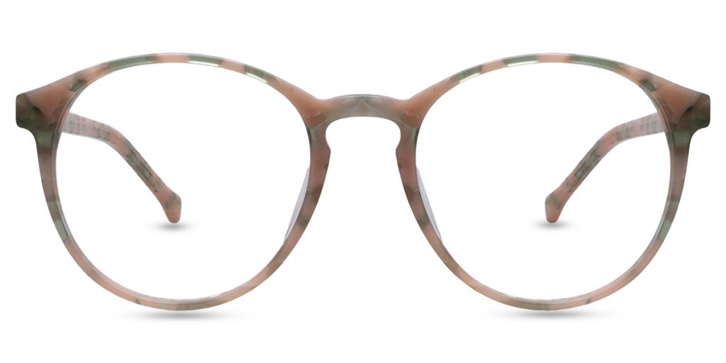Green & Pink Round Prescription Glasses from Firmoo