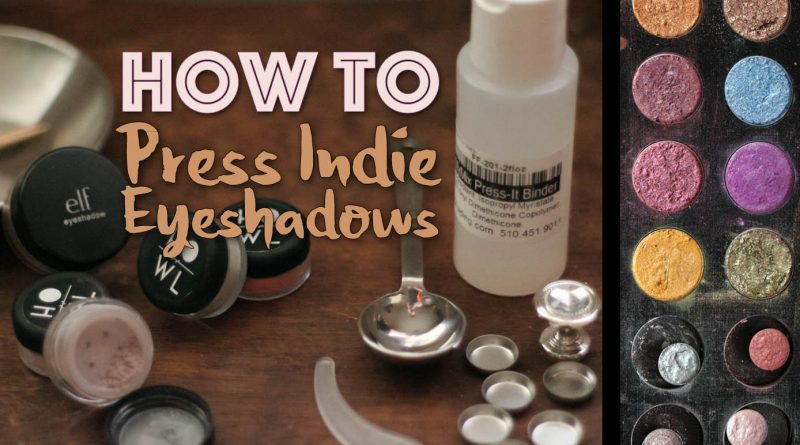 How to Press Loose and Indie Eyeshadows to Make DIY Eye Palettes