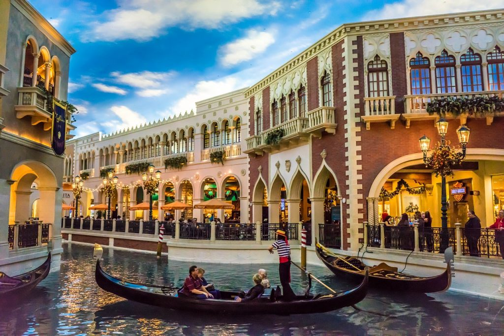 Las Vegas canals at the Venetian hotel