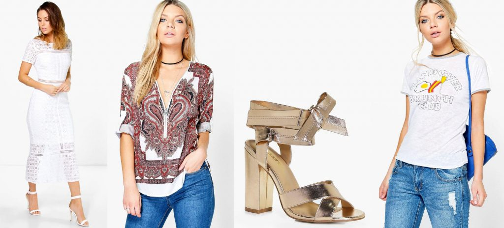 Boohoo 50% off sale: Tops, Dresses, and Shoes