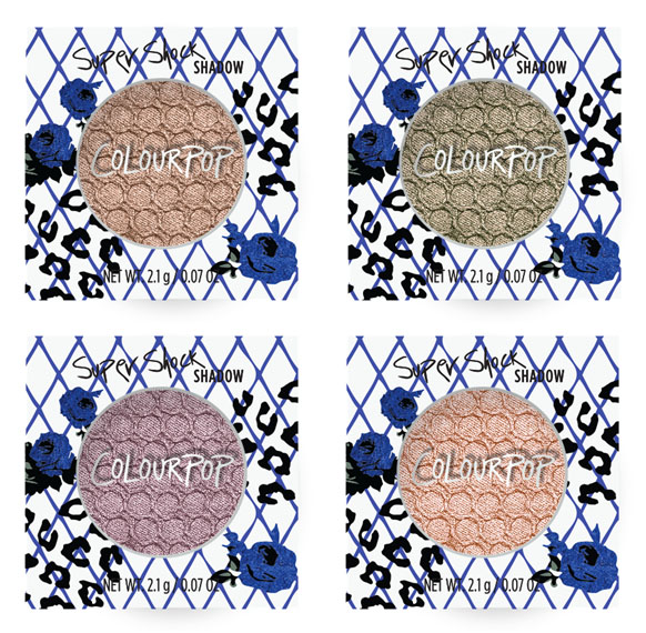 Colourpop Holiday 2016 Metallic Eyeshadows