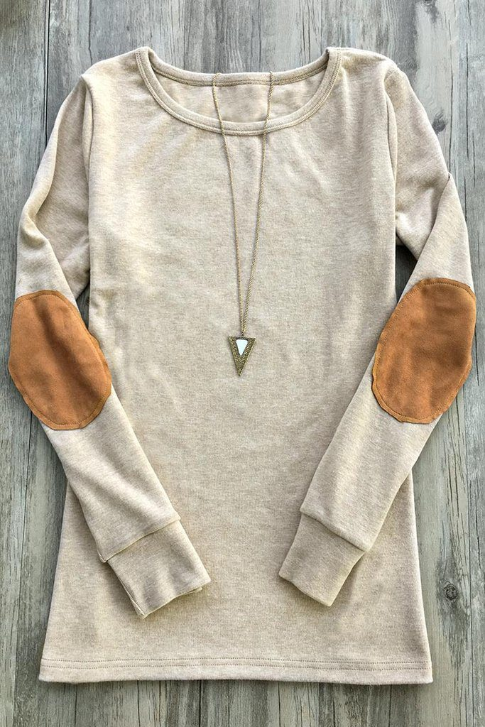 Cupshe Youth and Beauty Suede Elbow Patch Sweater
