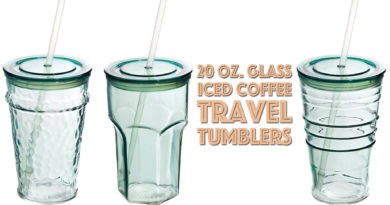 Gift Guide Under $10: Recycled Glass Tumbler Cold Drinks