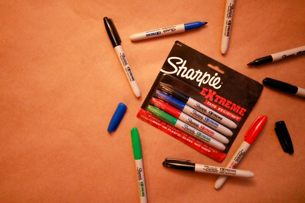Sharpie Extreme Fade Resistant Permanent Markers - DIY Gift Wrap