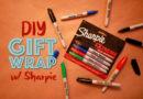 No-Fade DIY Gift Wrap Using Sharpie Extreme