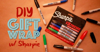 DIY Handmade Gift Wrapping Paper with Sharpies
