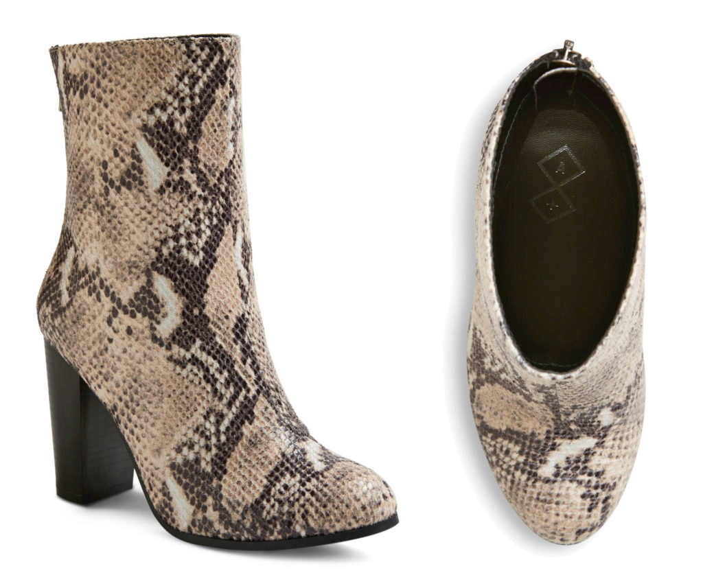 Target Boots: Ashlin Snakeskin Mid Shaft Booties