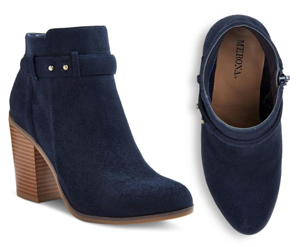 Target Boots: Merona Ginnifer Stud Button Heeled Booties