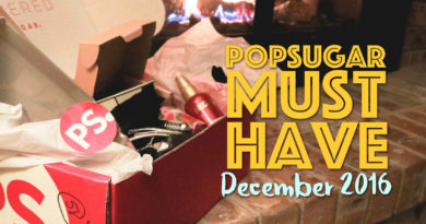 POPSUGAR Must Have December 2016 Unboxing